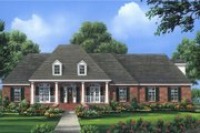 European Style House Plan - 4 Beds 3.5 Baths 2724 Sq/Ft Plan #21-363 Exterior - Front Elevation