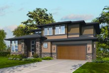 Modern Exterior - Front Elevation Plan #48-247
