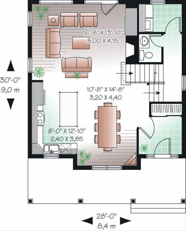Country Floor Plan - Main Floor Plan Plan #23-743