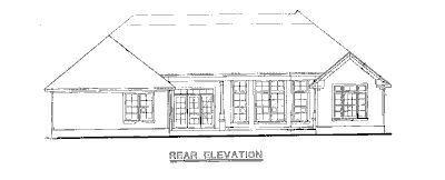 Craftsman Exterior - Rear Elevation Plan #20-164 - Houseplans.com