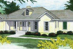 House Blueprint - Mediterranean Exterior - Front Elevation Plan #44-110