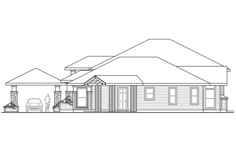 Exterior - Other Elevation Plan #124-445 - Houseplans.com