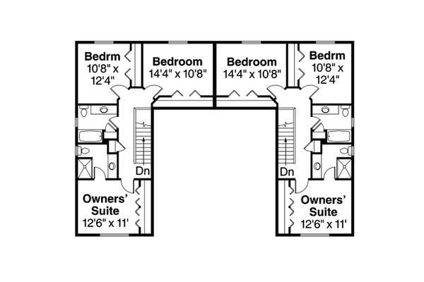 Country Floor Plan - Upper Floor Plan Plan #124-1079