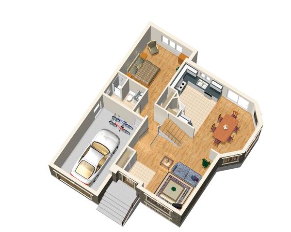 European Floor Plan - Main Floor Plan Plan #25-4641