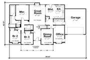 Traditional Style House Plan - 3 Beds 2 Baths 2151 Sq/Ft Plan #20-738 Floor Plan - Main Floor Plan