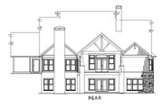 Craftsman Style House Plan - 4 Beds 3 Baths 3783 Sq/Ft Plan #17-2442 Exterior - Rear Elevation