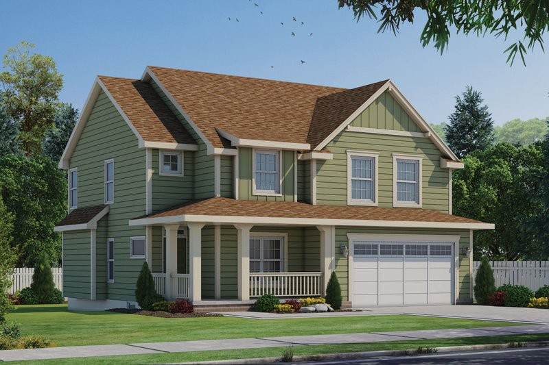Bungalow Style House Plan - 4 Beds 3 Baths 2308 Sq/Ft Plan #20-1846