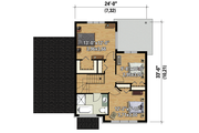 Contemporary Style House Plan - 3 Beds 1 Baths 1385 Sq/Ft Plan #25-4719 Floor Plan - Upper Floor Plan