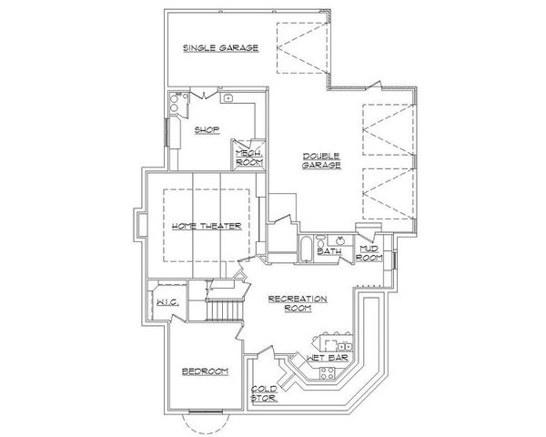 Home Plan - Victorian Floor Plan - Lower Floor Plan #5-420