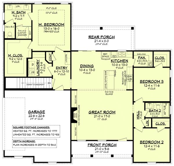 House Plan Design - Farmhouse Floor Plan - Main Floor Plan #430-230