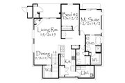Tudor Style House Plan - 2 Beds 2 Baths 5051 Sq/Ft Plan #509-19 Floor Plan - Lower Floor Plan