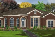 Traditional Style House Plan - 4 Beds 3.5 Baths 3372 Sq/Ft Plan #63-233 Exterior - Front Elevation