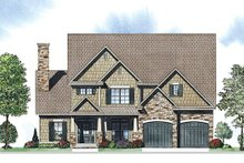 Craftsman Exterior - Front Elevation Plan #17-2416