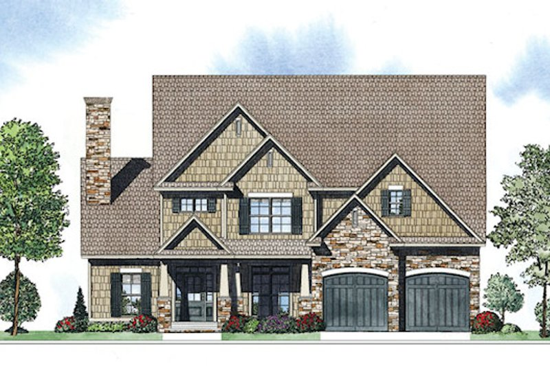 Dream House Plan - Craftsman Exterior - Front Elevation Plan #17-2416
