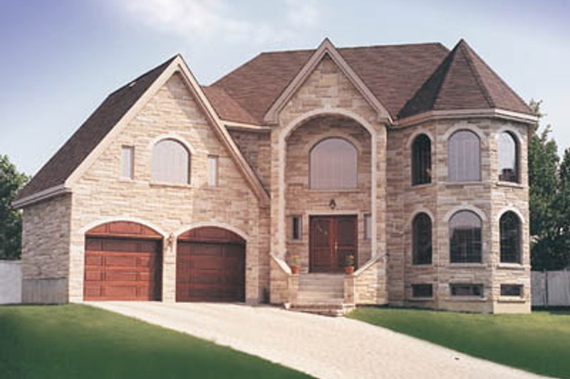European Style House Plan - 5 Beds 2.5 Baths 3078 Sq/Ft Plan #23-296 Exterior - Front Elevation