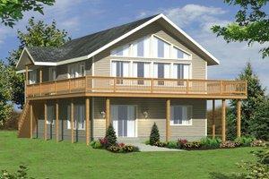 Modern Exterior - Front Elevation Plan #117-209