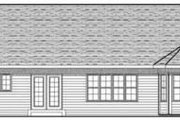 Ranch Style House Plan - 3 Beds 2 Baths 1810 Sq/Ft Plan #70-612 Exterior - Rear Elevation