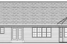 Home Plan - Ranch Exterior - Rear Elevation Plan #70-612