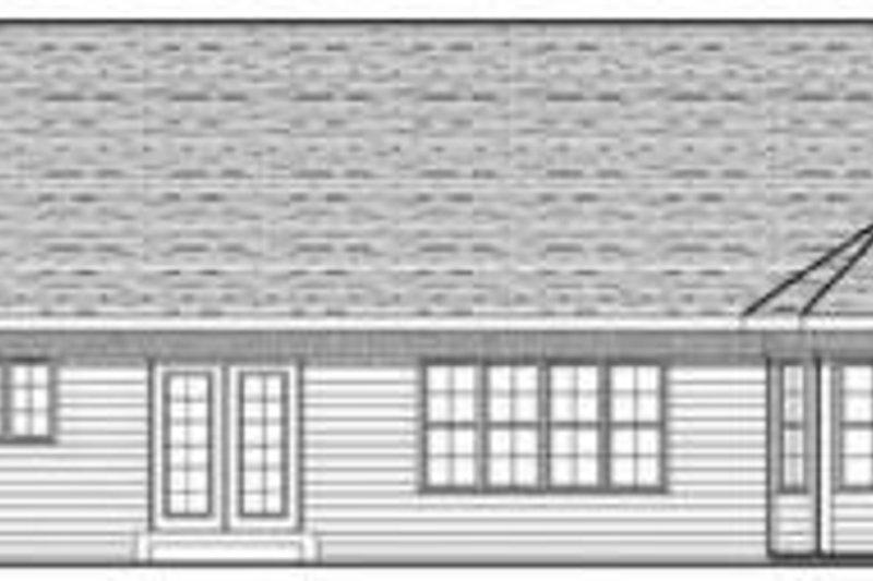 Ranch Exterior - Rear Elevation Plan #70-612 - Houseplans.com