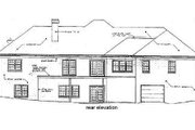 Colonial Style House Plan - 3 Beds 2.5 Baths 2485 Sq/Ft Plan #10-110 Exterior - Rear Elevation