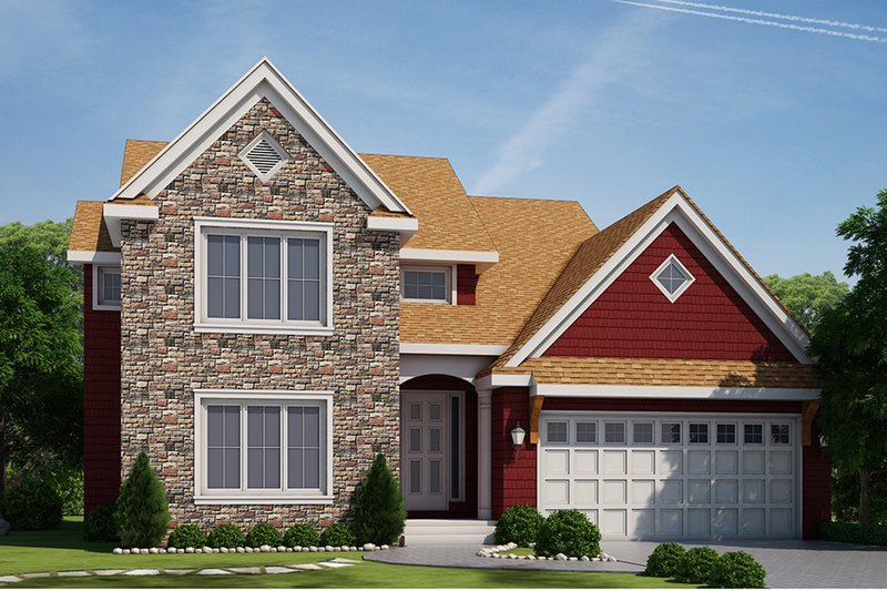 Traditional Exterior - Front Elevation Plan #20-2273