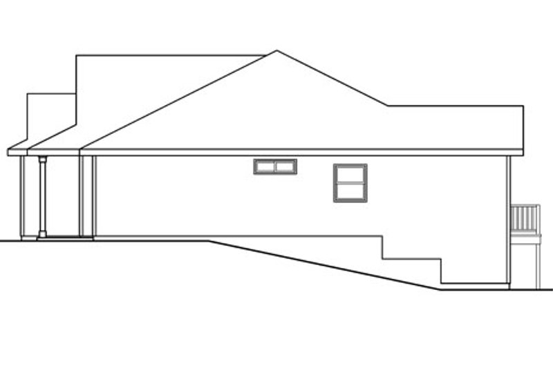 Country Exterior - Other Elevation Plan #124-593 - Houseplans.com