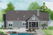 House Design - Ranch Exterior - Rear Elevation Plan #929-1118
