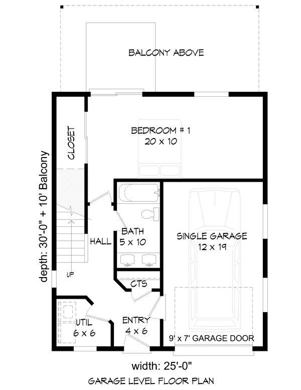 Contemporary Floor Plan - Main Floor Plan Plan #932-47