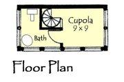 Craftsman Style House Plan - 2 Beds 2 Baths 1066 Sq/Ft Plan #921-16 Floor Plan - Upper Floor Plan
