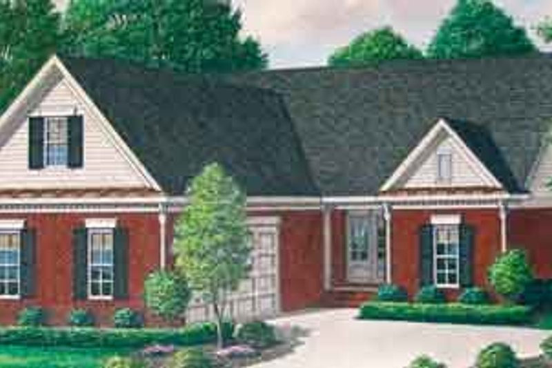 Southern Exterior - Front Elevation Plan #34-182