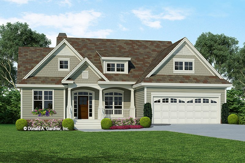 Dream House Plan - Craftsman Exterior - Front Elevation Plan #929-721