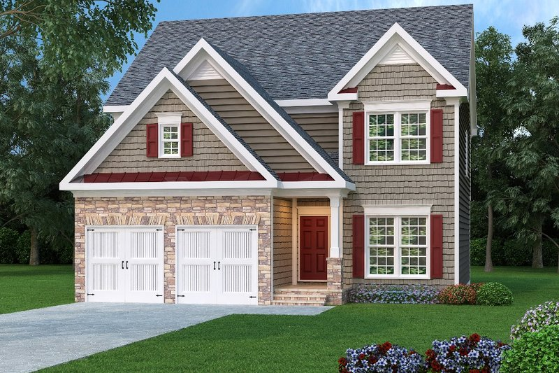 Traditional Style House Plan - 4 Beds 2.5 Baths 2228 Sq/Ft Plan #419-176 Exterior - Front Elevation