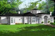 Mediterranean Style House Plan - 5 Beds 5.5 Baths 5053 Sq/Ft Plan #1-932 Exterior - Front Elevation