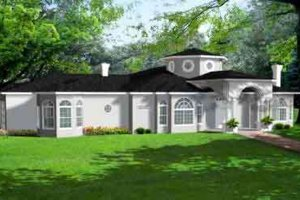 Mediterranean Exterior - Front Elevation Plan #1-932