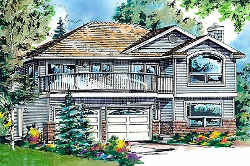 House Blueprint - Traditional Exterior - Front Elevation Plan #18-275