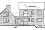 Victorian Style House Plan - 4 Beds 3.5 Baths 2265 Sq/Ft Plan #23-2017 Exterior - Rear Elevation