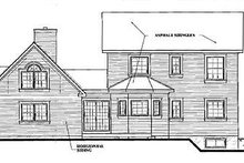 Victorian Exterior - Rear Elevation Plan #23-2017