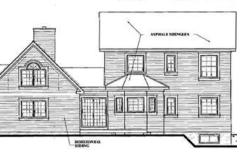 Victorian Exterior - Rear Elevation Plan #23-2017 - Houseplans.com