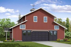 Country Exterior - Front Elevation Plan #124-1052