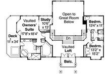 Craftsman Floor Plan - Upper Floor Plan Plan #124-516