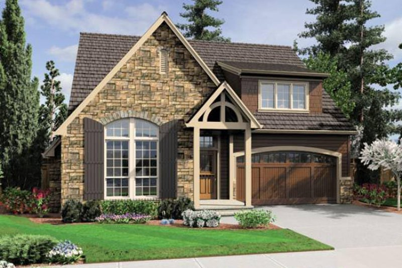 Home Plan - European Exterior - Front Elevation Plan #48-531