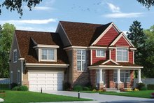 Home Plan - Traditional Exterior - Front Elevation Plan #20-2319