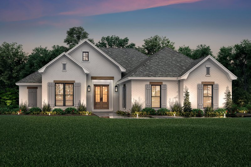 Traditional Style House Plan - 3 Beds 2 Baths 1817 Sq/Ft Plan #430-214 Exterior - Front Elevation