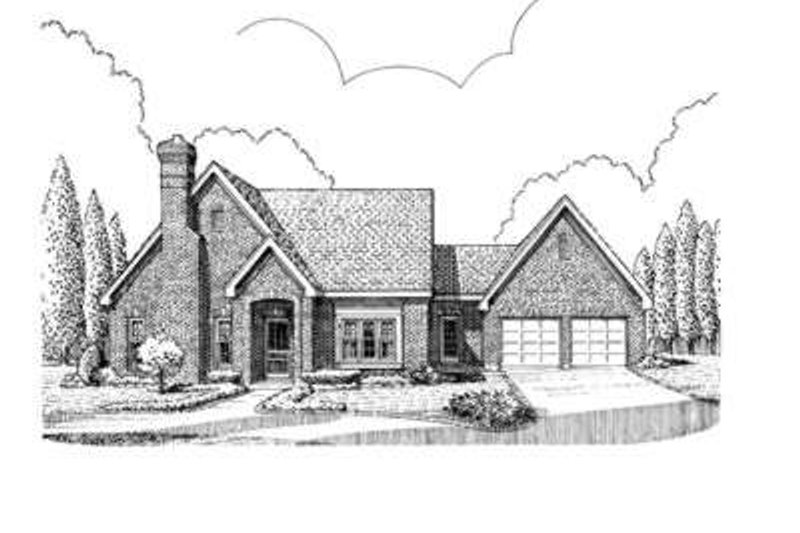 European Exterior - Front Elevation Plan #410-313
