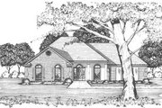 Mediterranean Style House Plan - 3 Beds 2 Baths 1476 Sq/Ft Plan #36-316 Exterior - Front Elevation