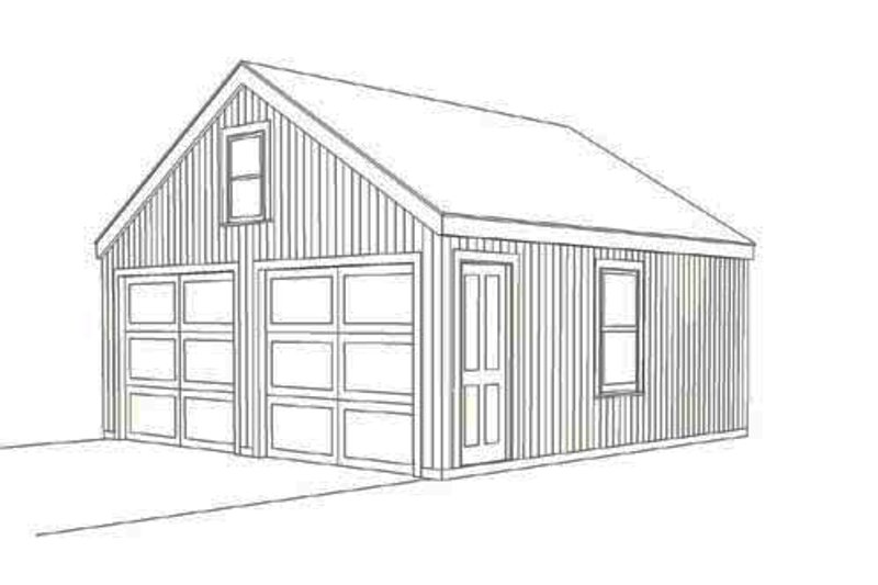Country Style House Plan - 0 Beds 0 Baths 1 Sq/Ft Plan #477-1 Exterior - Front Elevation