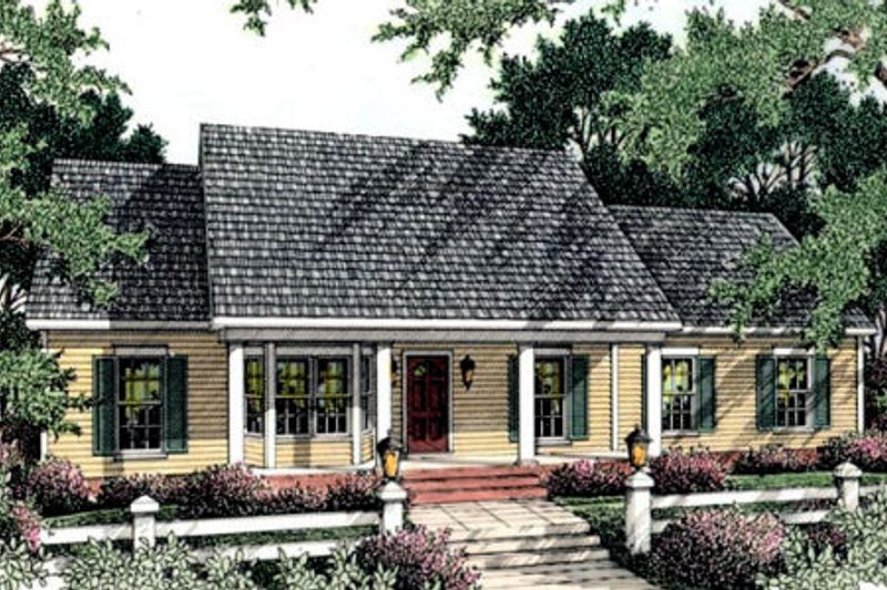 Country Exterior - Front Elevation Plan #406-122 - Houseplans.com