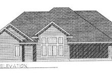 House Design - Traditional Exterior - Rear Elevation Plan #70-411