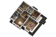 Traditional Style House Plan - 4 Beds 3 Baths 3493 Sq/Ft Plan #25-4610 Floor Plan - Upper Floor Plan