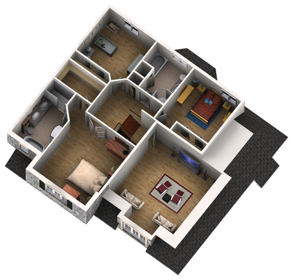 Traditional Floor Plan - Upper Floor Plan Plan #25-4610